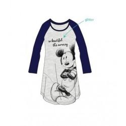 Dámská noční košile s dl. rukávem Mickey Mouse - modrá