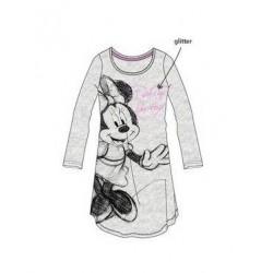 Dámská noční košile s dl. rukávem Minnie Mouse - šedá