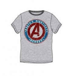Pánské triko s kr. rukávem Avengers - šedé