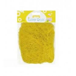 Dekorační tráva - žlutá