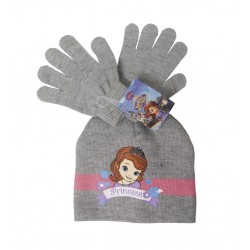 Set čepice + rukavice Sofie první - šedá