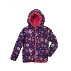 Oboustranná bunda Ledové království - fialovo-růžová