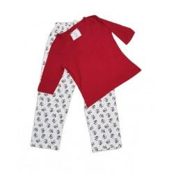 Dámské pyžamo s dl. rukávem + kalhoty (tučňáci)