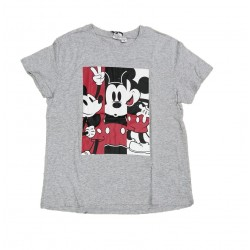 Dámské triko s kr. rukávem Mickey Mouse - šedé