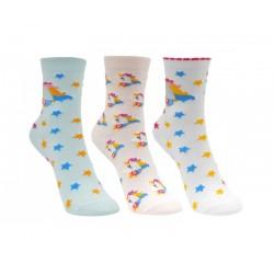 Ponožky s jednorožci (3pack)