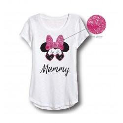 "Dámské triko ""mummy"" Minnie Mouse - bílé"
