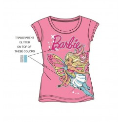 Triko s kr. rukávem Barbie - růžová