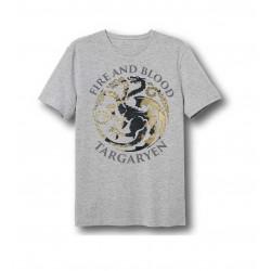 Pánské triko s kr. rukávem Hra o trůny - šedé