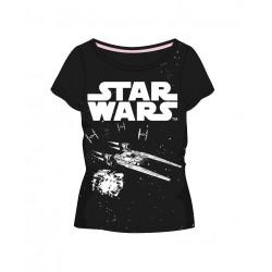 Dámské triko s kr. rukávem Star wars - černé