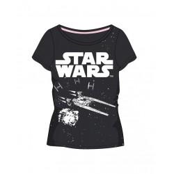 Dámské triko s kr. rukávem Star wars - tmavě šedé