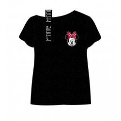 Triko s krátkým rukávem Minnie Mouse - černá