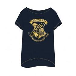 Dámská noční košile / tunika / triko s kr. rukávem Harry Potter - tmavě modrá