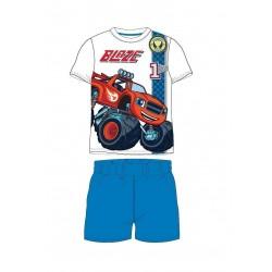 Pyžamo s kr. rukávem + kraťase Blaze - modrá