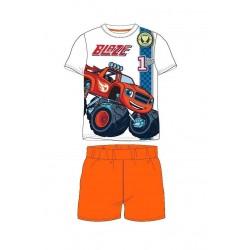 Pyžamo s kr. rukávem + kraťase Blaze - oranžová
