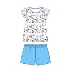 Pyžamo s kr. rukávem + kraťase Minnie Mouse - modrá