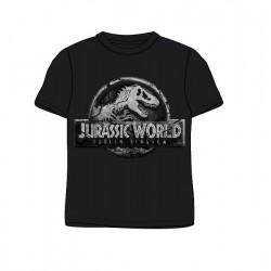 Pánské triko s kr. rukávem Jurský park (svět) - šedo-černé
