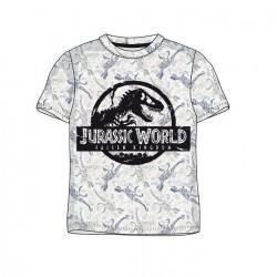 Pánské triko s kr. rukávem Jurský park (svět) - šedo-bílé