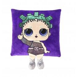 Polštářek s panenkou L.O.L. - tmavě fialová