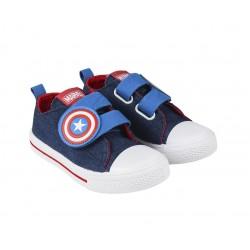 Tenisky na suchý zip Marvel Avengers - Kapitán Amerika