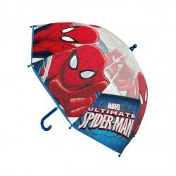 Průhledný deštník Spider-man - modrý