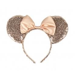 Čelenka s oušky Minnie Mouse - zlatá