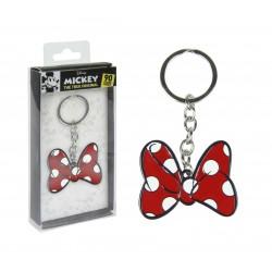 Kovová klíčenka Minnie Mouse - mašlička