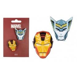 Brož Avengers - Iron-man & Thor (sada 2ks)