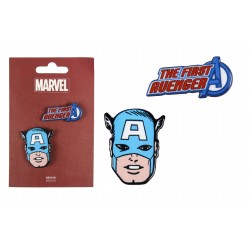 Brož První Avenger - Kapitán Amerika (sada 2ks)