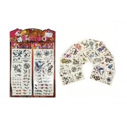 Tetovačky - pavouci, ještěrky, motýli, ptáci, aj.