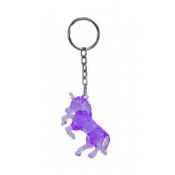 Klíčenka / přívěšek s jednorožcem - fialová