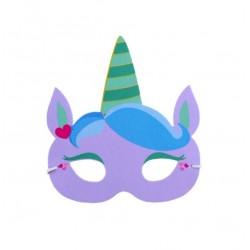 Maska jednorožec - fialová
