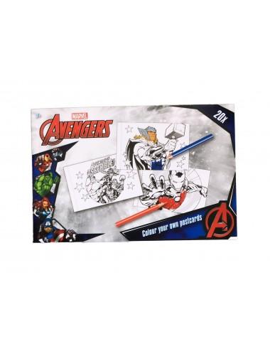 Sada pohlednic - k vlastnímu dotvoření - Avengers