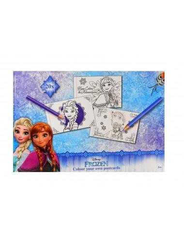 Sada pohlednic - k vlastnímu dotvoření - Ledové království