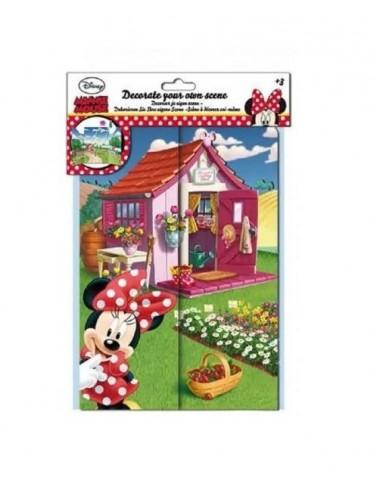 Dekorační scéna s nálepkami Minnie Mouse