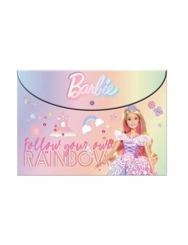 A4 plastové - zavírací složky na cvoček Barbie