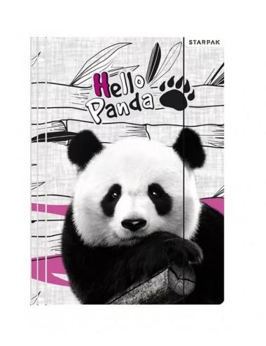Složky s gumkou - panda
