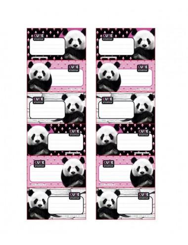 Lepící štítky s pandou
