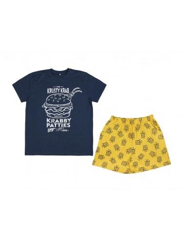 Dárkové balení - triko s kr. rukávem + kraťase Sponge Bob