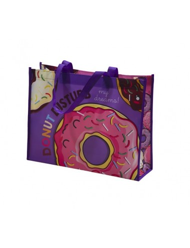 Pevná nákupní taška s donuty
