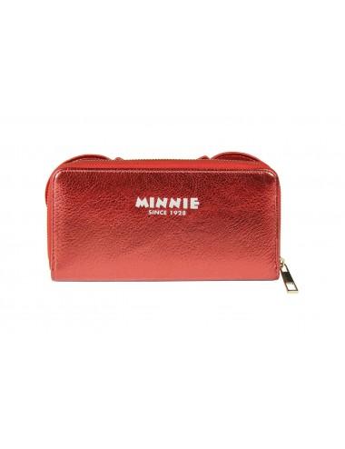 Peněženka Minnie Mouse - červená s mašlí