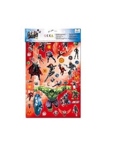 Dekorační scéna s nálepkami Avengers
