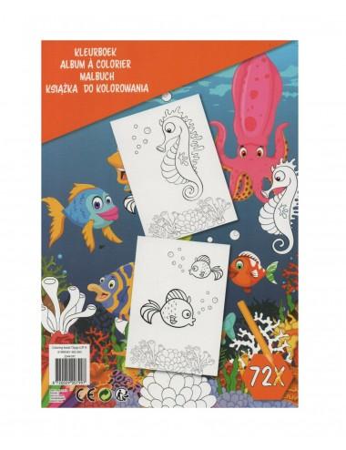 Kniha omalovánek - podmořský svět