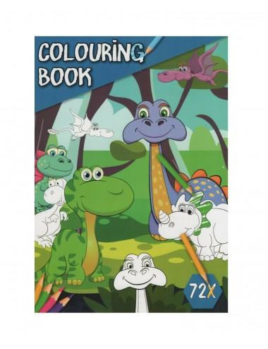 Kniha omalovánek - dinosauři