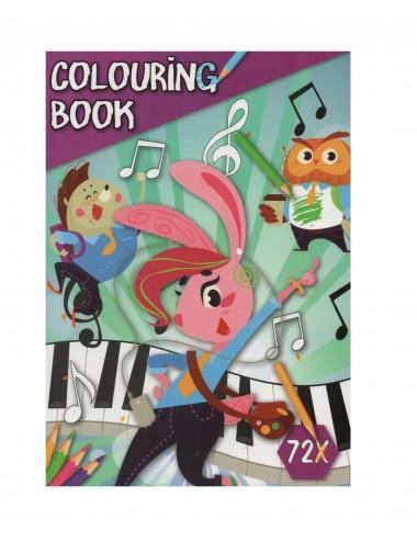 Kniha omalovánek - zvířátka v hudebním světě