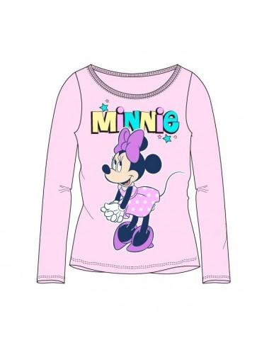 Triko s dl. rukávem Minnie Mouse - růžová