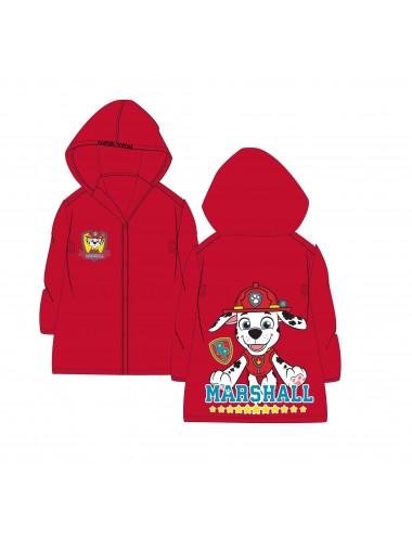 Pláštěnka Tlapková patrola - Marshall (červená)