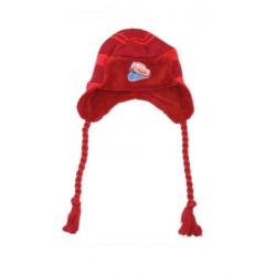 Zimní čepice Auta - červená