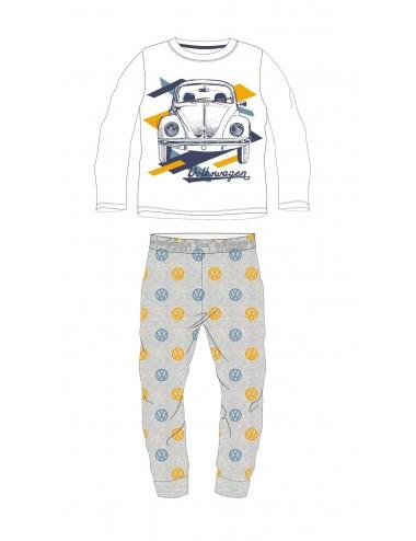 Pyžamo s dl. rukávem + kalhoty Volkswagen - šedo-bílá