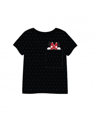 Dámské triko s kr. rukávem Minnie Mouse - černá