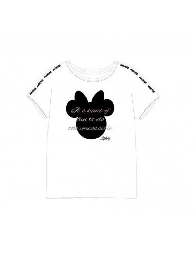 Dámské triko s kr. rukávem Minnie Mouse - bílá